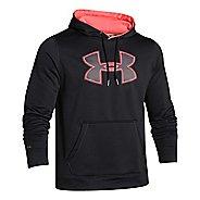 Mens Under Armour Fleece Storm Big Logo Warm Up Hooded Jackets