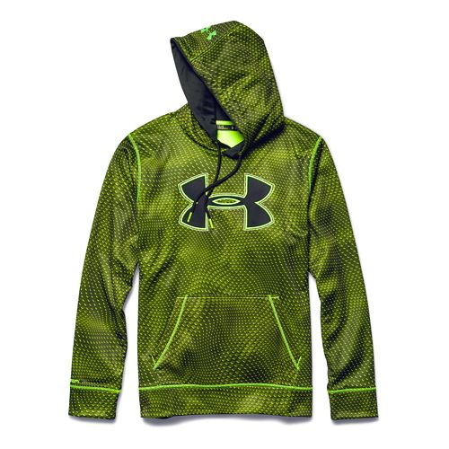 Mens Under Armour Fleece Storm Big Logo Rattle Warm Up Hooded Jackets - High Vis ...