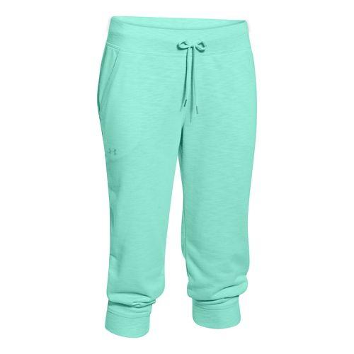 Womens Under Armour Kaleidalogo Solid Capri Pants - Crystal XS