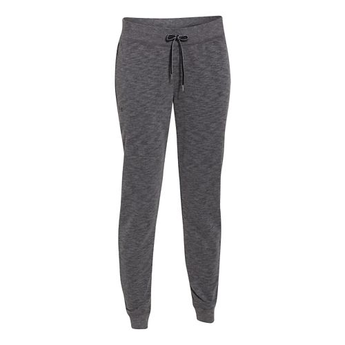 Womens Under Armour Kaleidalogo Solid Full Length Pants - Carbon Heather XS