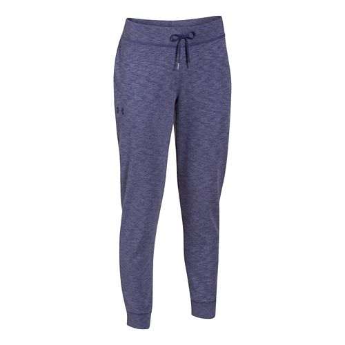 Womens Under Armour Kaleidalogo Solid Full Length Pants - Faded Ink XS