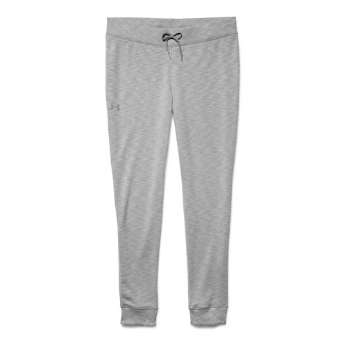 Womens Under Armour Kaleidalogo Solid Full Length Pants - Carbon Heather S