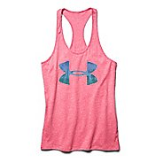 Womens Under Armour Charged Cotton Palm Tree Logo Fill Tank Technical Tops