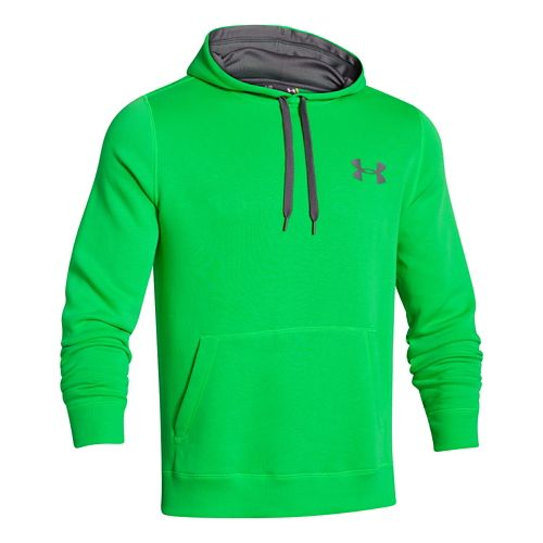 Mens Under Armour Rival Cotton Warm Up Hooded Jackets - Green/Graphite XXL-R