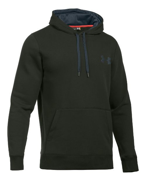 Mens Under Armour Rival Cotton Hoodie & Sweatshirts Technical Tops - Army Green/Grey 3XLR