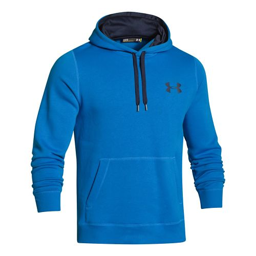 Mens Under Armour Rival Cotton Warm Up Hooded Jackets - Blue Jet/Navy L-R
