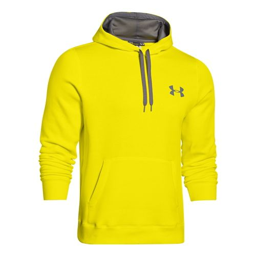 Mens Under Armour Rival Cotton Warm Up Hooded Jackets - Sunbleached/Graphite S-T
