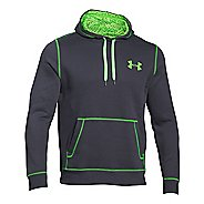 Mens Under Armour Rival Cotton Warm Up Hooded Jackets