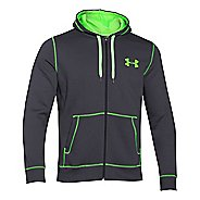 Mens Under Armour Rival Cotton Full Zip Warm Up Unhooded Jackets