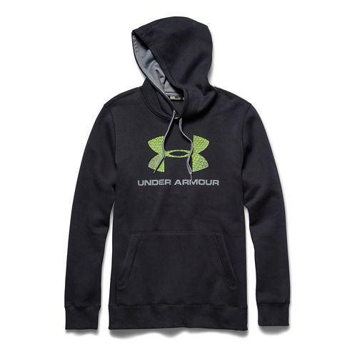 Mens Under Armour Sports Style Cotton Warm Up Hooded Jackets - Black/Steel M