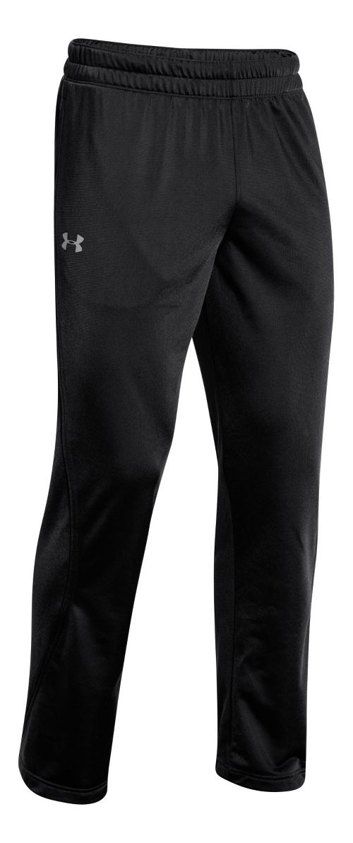 Mens Under Armour Light Weight Warm-Up Pants - Black/Black L
