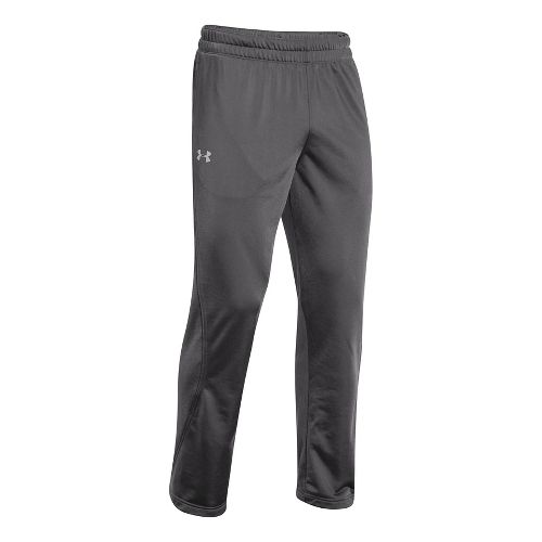 Mens Under Armour Light Weight Warm-Up Full Length Pants - Graphite/Black M-T