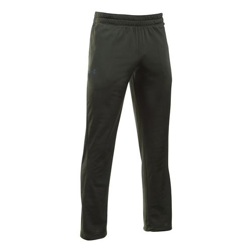 Mens Under Armour Light Weight Warm-Up Pants - Army Green/Black LR