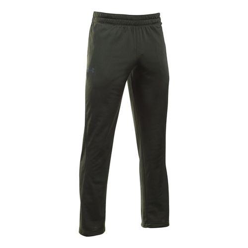 Mens Under Armour Light Weight Warm-Up Pants - Army Green/Black XXLR