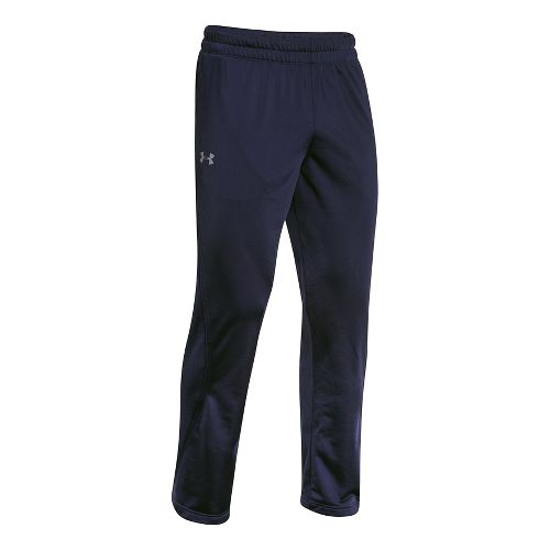 Mens Under Armour Light Weight Warm-Up Full Length Pants - Navy/Navy M-T