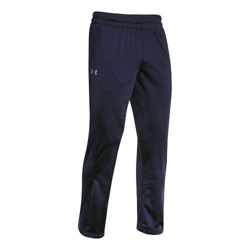 Mens Under Armour Light Weight Warm-Up Full Length Pants - Navy/Navy XXL-T