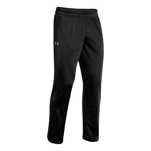 Mens Under Armour Light Weight Warm-Up Full Length Pants - Black/Black L-R