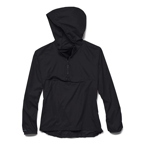 Womens Under Armour Storm PopOver Warm Up Hooded Jackets - Black/Black XS