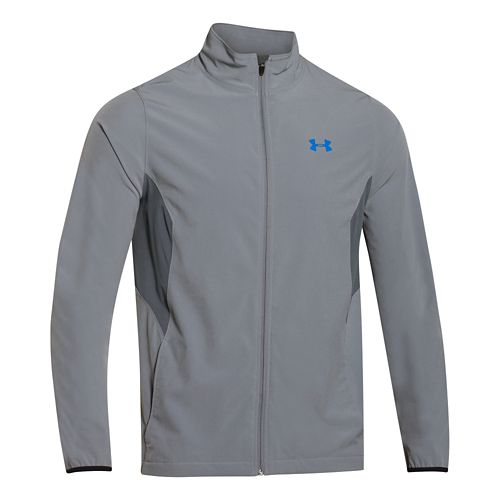 Mens Under Armour Pulse 2.0 Jacket Warm Up Unhooded Jackets - Steel/Graphite 3X