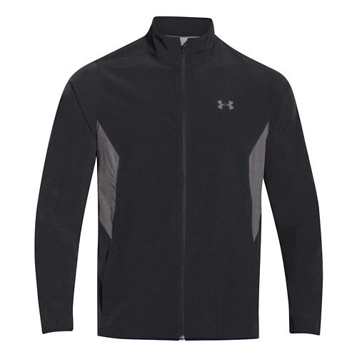 Mens Under Armour Pulse 2.0 Jacket Warm Up Unhooded Jackets - Black/Graphite L