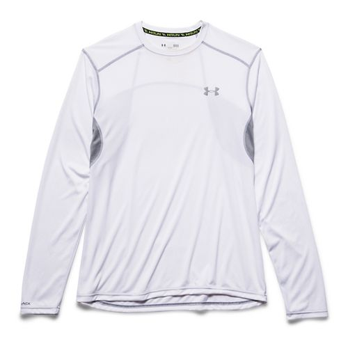Mens Under Armour coldblack Tee Long Sleeve No Zip Technical Tops - White XL