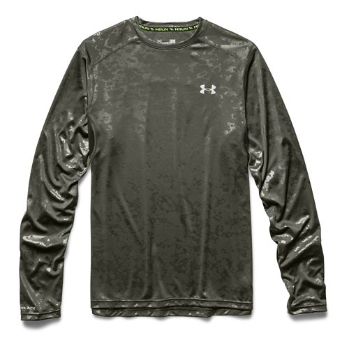 Mens Under Armour coldblack Tee Long Sleeve No Zip Technical Tops - Rifle Green XL ...