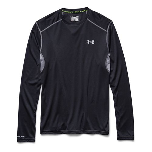 Mens Under Armour coldblack Tee Long Sleeve No Zip Technical Tops - Black XXL