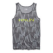 Mens Under Armour Run Printed Singlet Tank Technical Tops