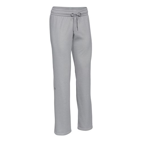 Womens Under Armour Fleece Full Length Pants - True Grey Heather XL
