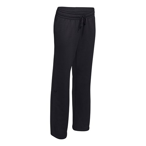 Womens Under Armour Fleece Full Length Pants - Carbon/Charcoal M