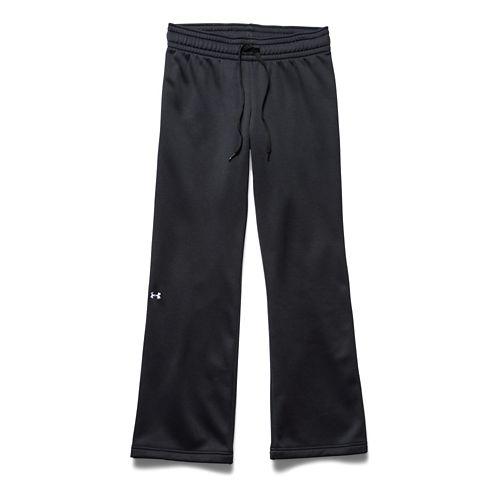 Womens Under Armour Fleece Full Length Pants - Carbon Heather L