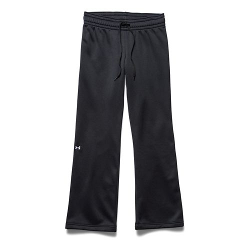 Womens Under Armour Fleece Full Length Pants - Carbon Heather M