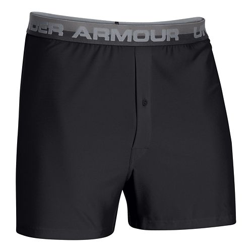 Mens Under Armour Original Series (Hanging) Boxer Underwear Bottoms - Black M