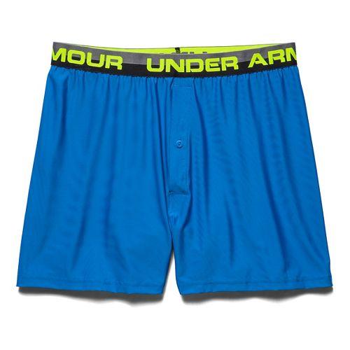 Mens Under Armour Original Series (Hanging) Boxer Underwear Bottoms - Blue Jet/Graphite XL