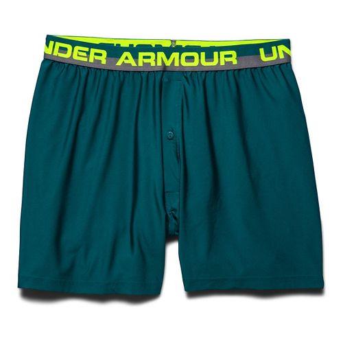 Mens Under Armour Original Series (Hanging) Boxer Underwear Bottoms - Hydro Teal M
