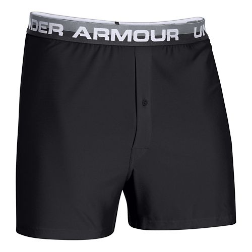 Mens Under Armour Original Series (Hanging) Boxer Underwear Bottoms - Carbon/Charcoal S