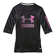 Kids Under Armour UPF 3/4 Sleeve Tee Long Sleeve No Zip Technical Tops