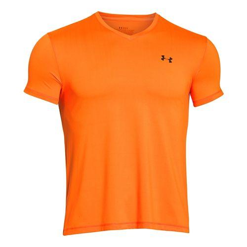 Mens Under Armour Elite Series V Neck Short Sleeve Technical Tops - Blaze Orange XL ...