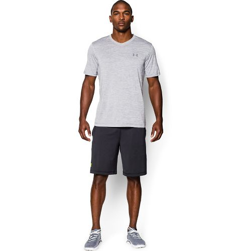 Mens Under Armour Tech V-Neck Tee Short Sleeve Technical Tops - Steel M