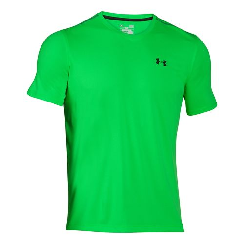 Mens Under Armour Tech V-Neck Tee Short Sleeve Technical Tops - Green Energy S