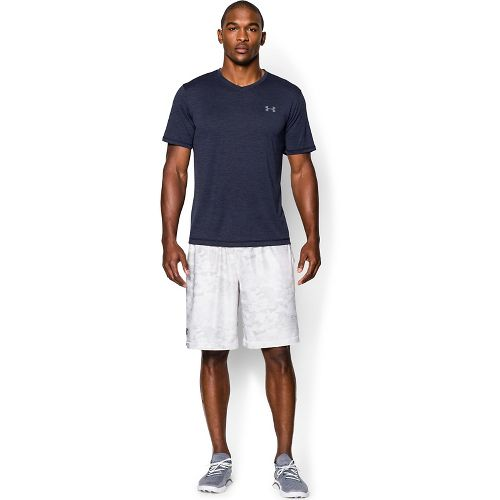 Mens Under Armour Tech V-Neck Tee Short Sleeve Technical Tops - Pomegranate S