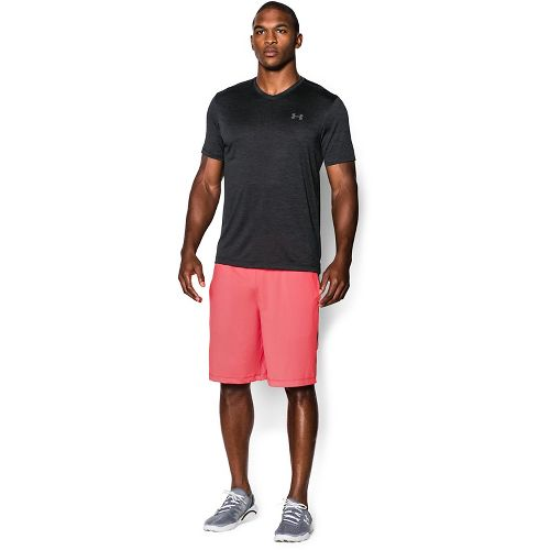 Mens Under Armour Tech V-Neck Tee Short Sleeve Technical Tops - Bolt Orange L