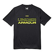 Mens Under Armour Core Wordmarked Fill 1 Tee Short Sleeve Technical Tops