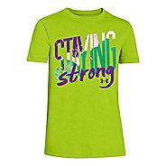 Kids Under Armour Staying Strong Crew Short Sleeve Technical Tops
