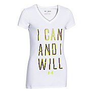 Kids Under Armour I Can and I Will V-Neck Short Sleeve Technical Tops