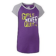 Kids Under Armour Never Quit Raglan Short Sleeve Non-Technical Tops