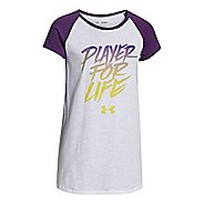 Kids Under Armour Player For Life Raglan Short Sleeve Non-Technical Tops