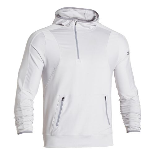 Mens Under Armour Forum Warm Up Hooded Jackets - Silver Heather 3X