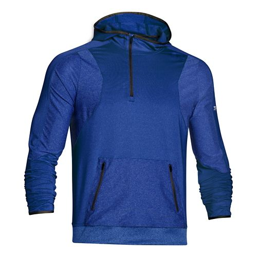 Mens Under Armour Forum Warm Up Hooded Jackets - Royal L