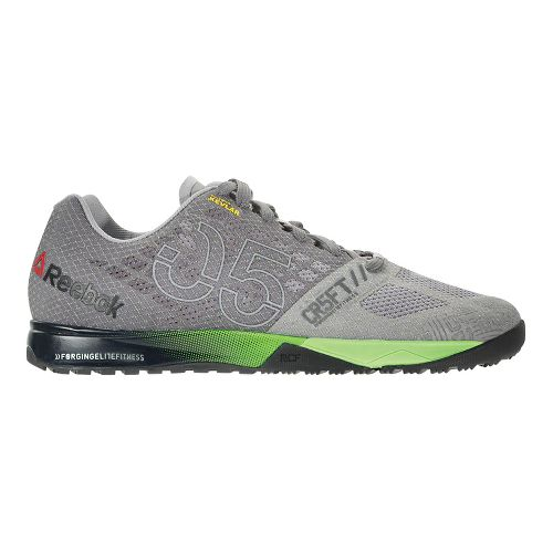 Mens Reebok CrossFit Nano 5.0 Cross Training Shoe - Grey/Green 9